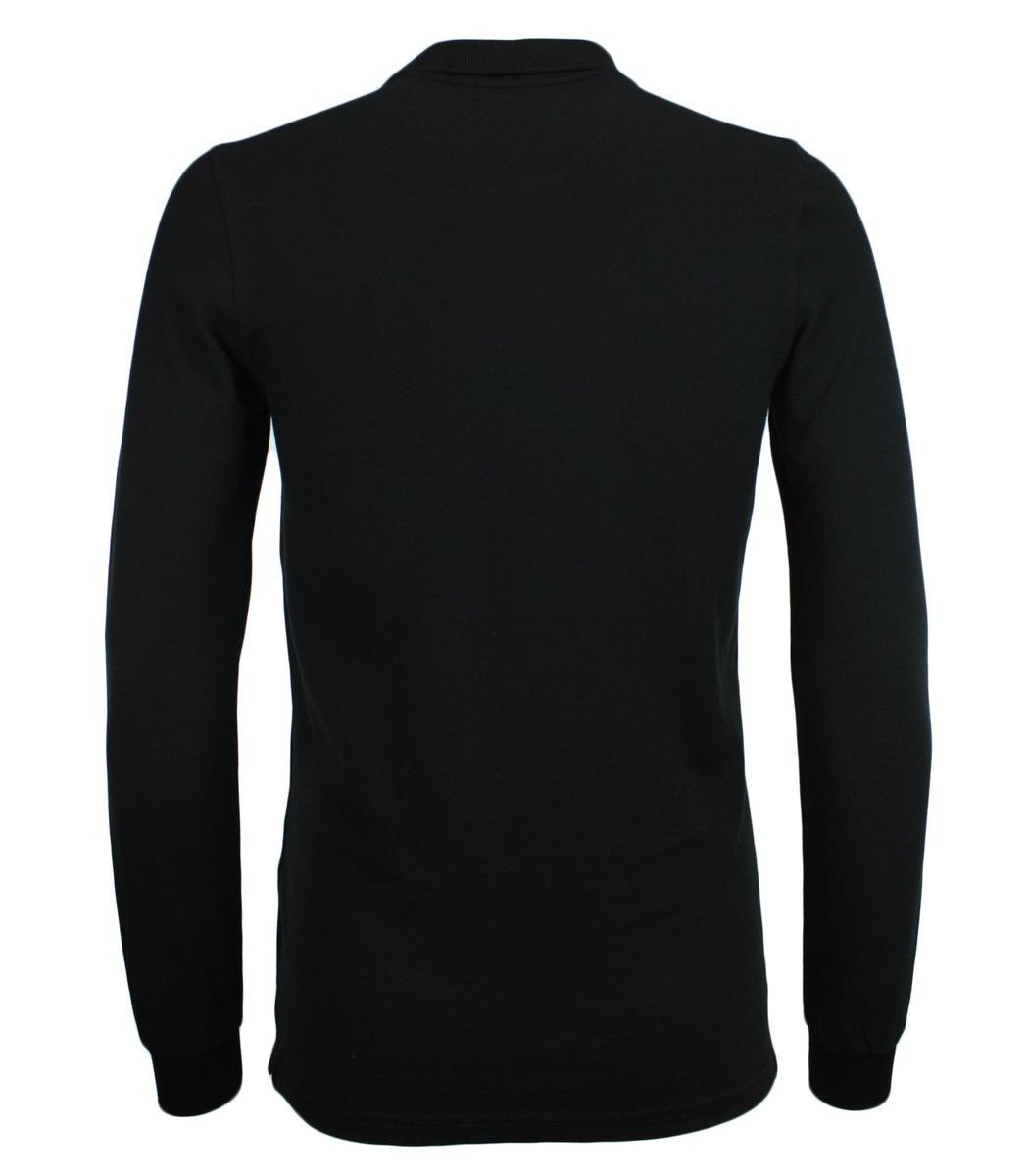 Чёрное классическое поло с длинным рукавом Gant PG1
