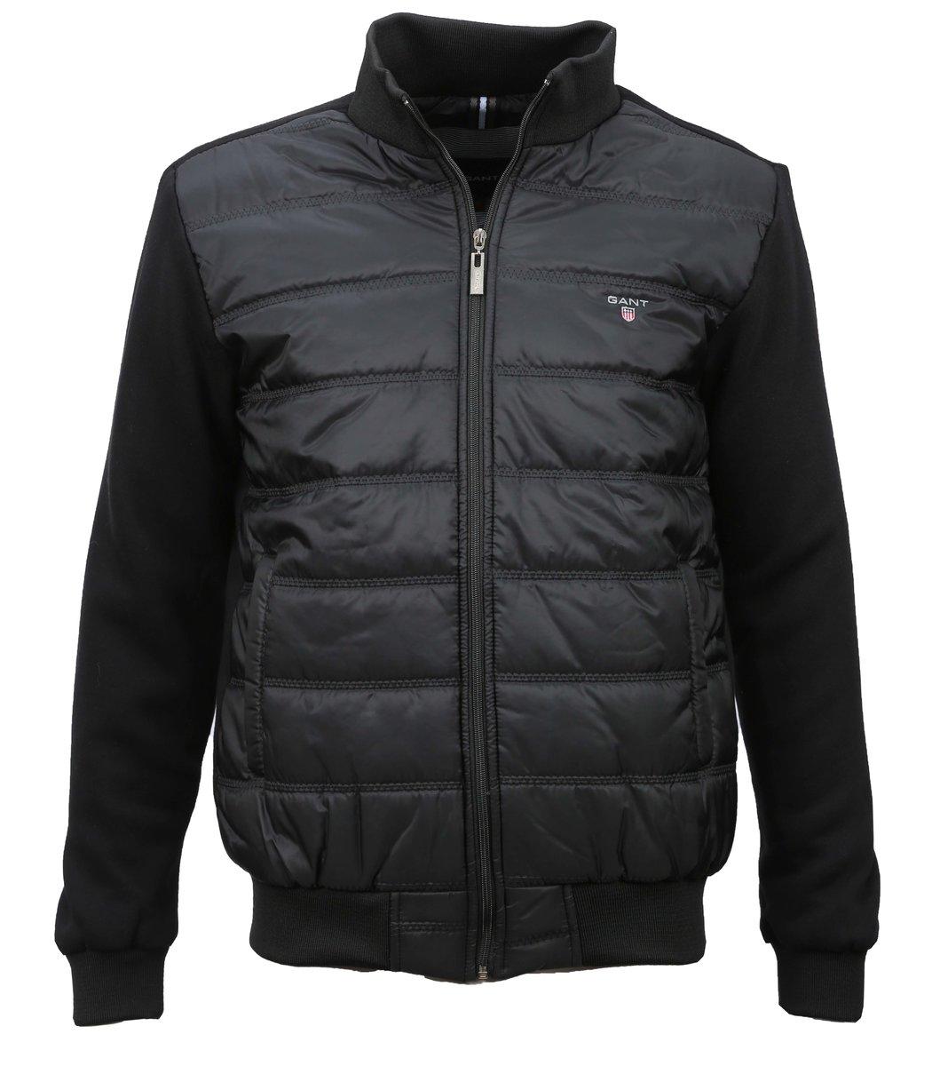 Чёрная комбинированная куртка Gant KG1