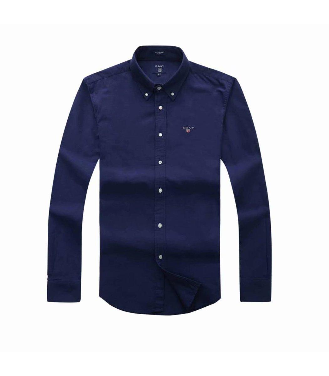 Темно-синяя рубашка GANT RG2