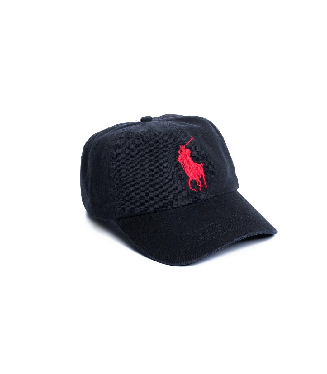 Кепка POLO Ralph Lauren Classic 3 Черный/красный