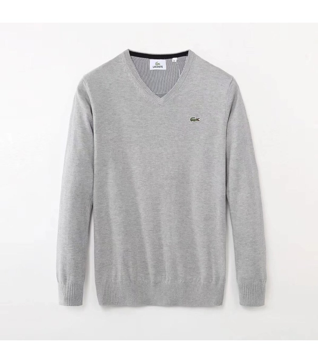 Светло-серый пуловер Lacoste VL3