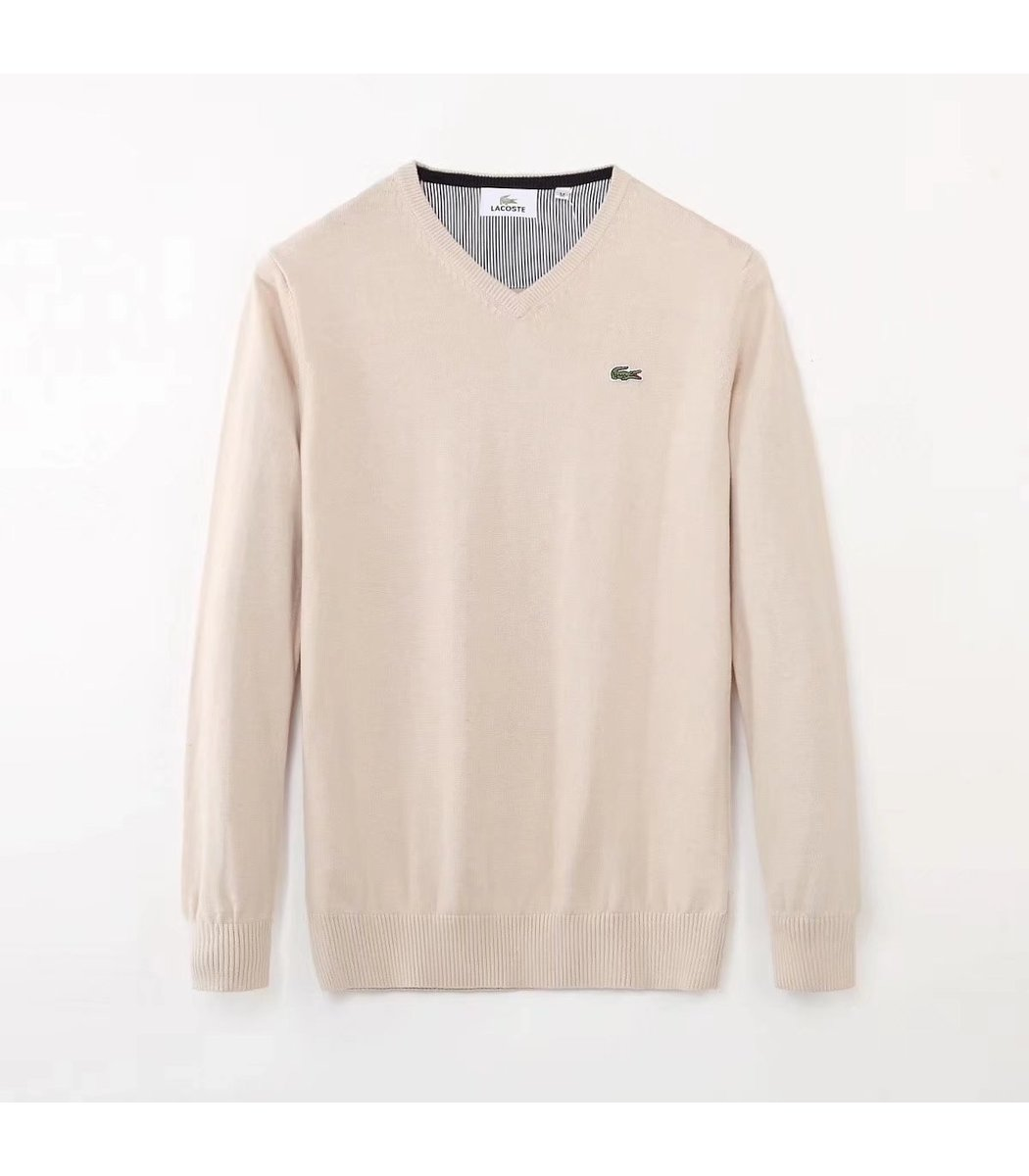 Молочный пуловер Lacoste VL3