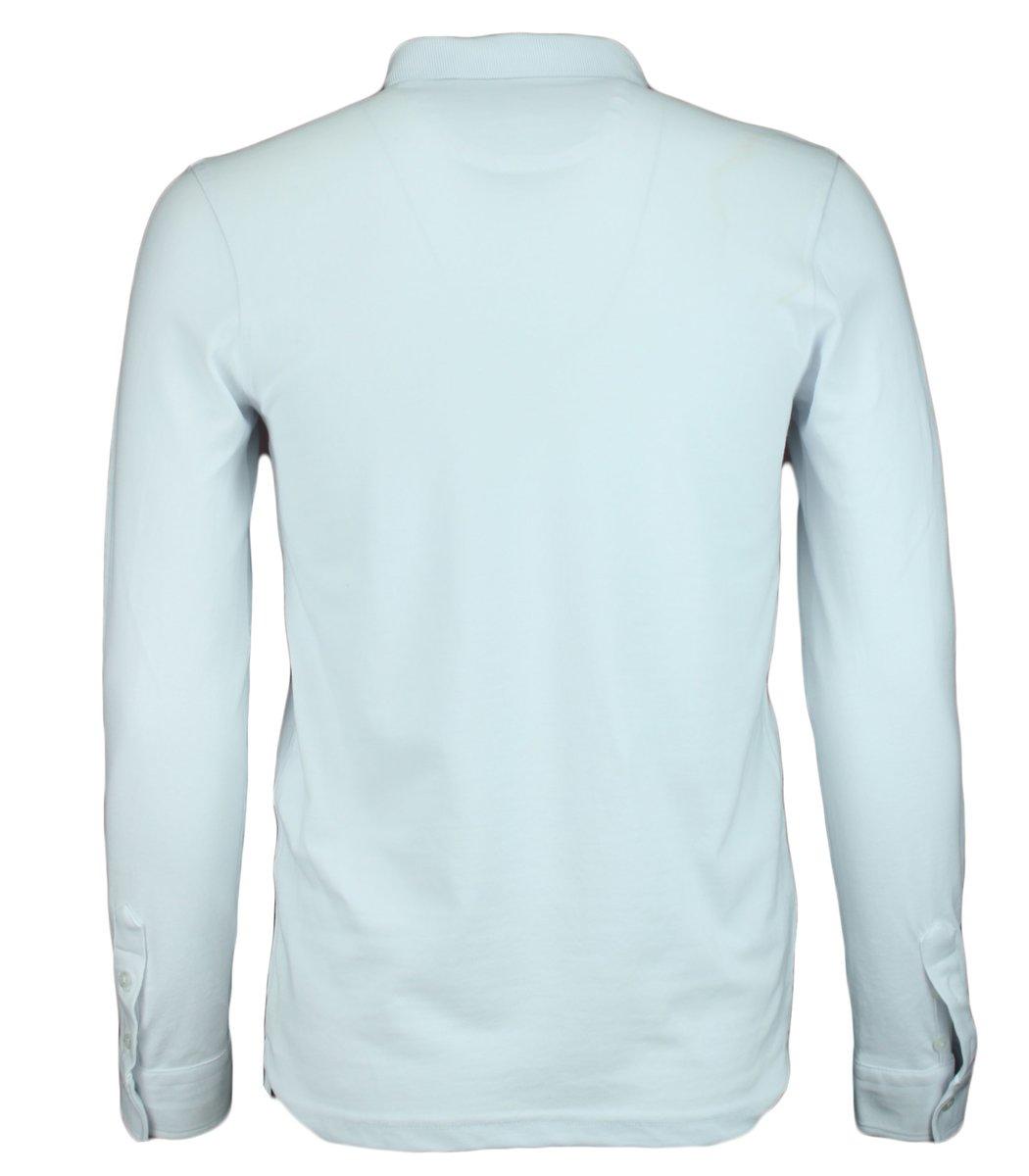 Белое поло с длинным рукавом, воротник стойка, Lacoste PL2