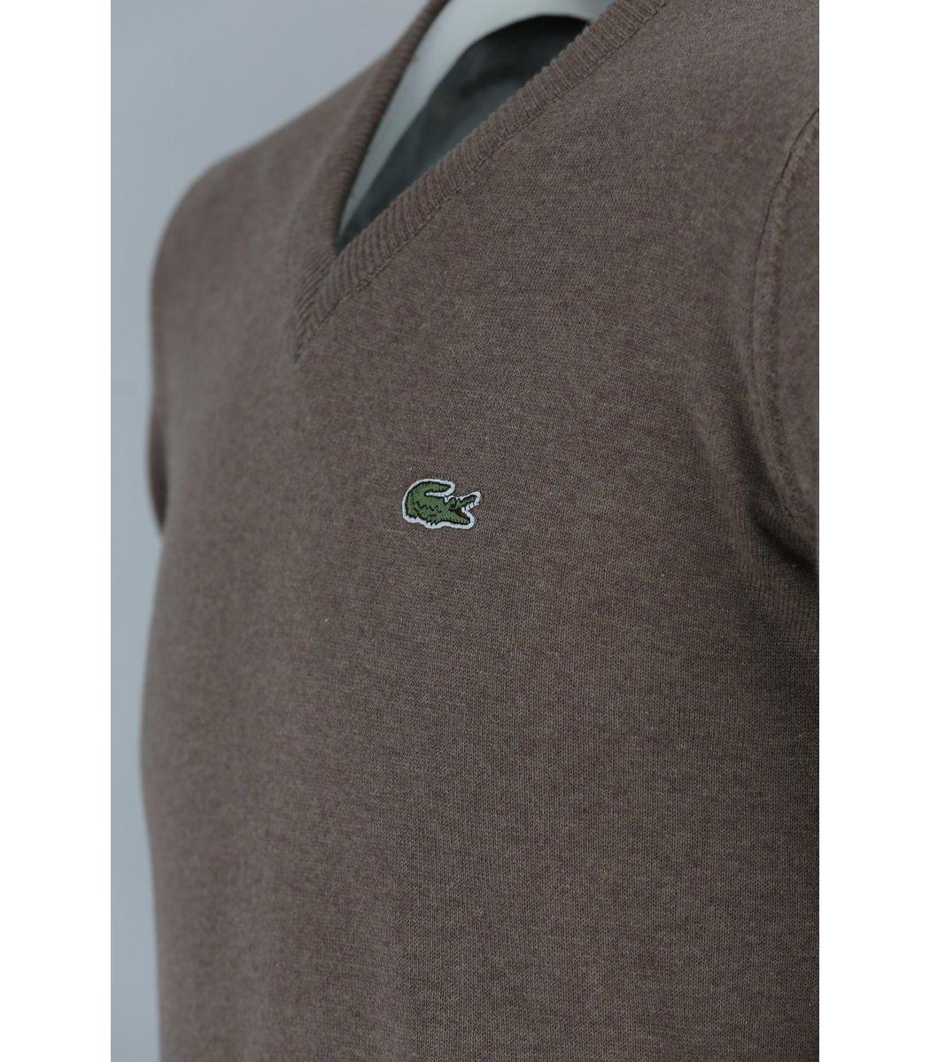Коричневый пуловер Lacoste VL5