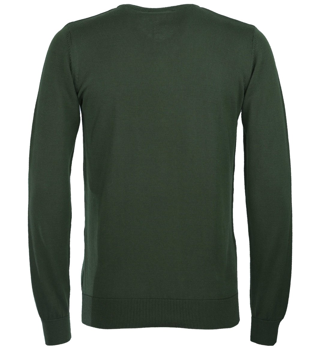 Тёмно-зелёный пуловер Lacoste VL5