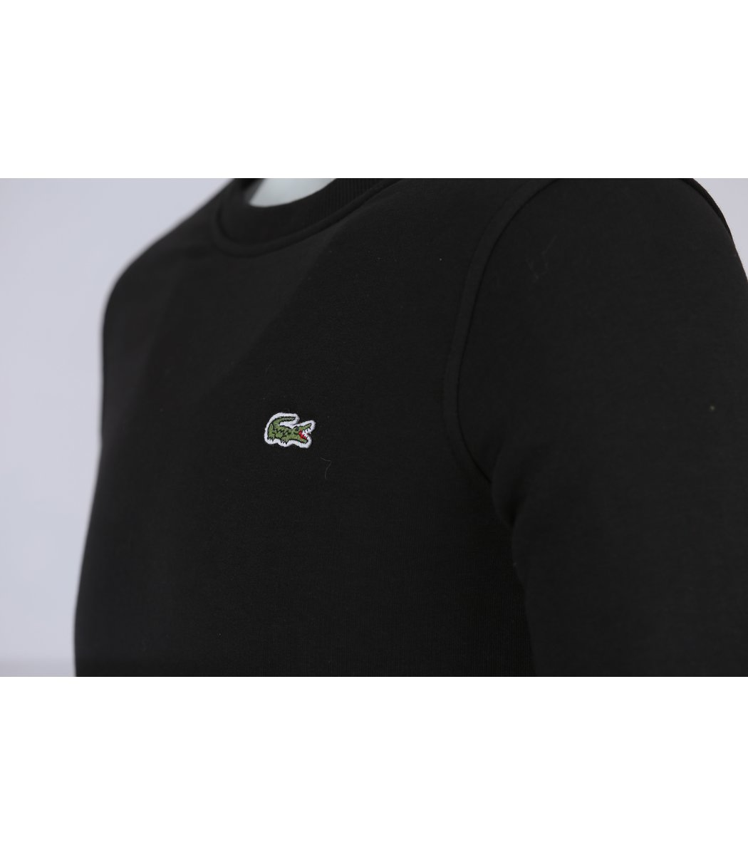 Чёрный свитшот Lacoste SL1