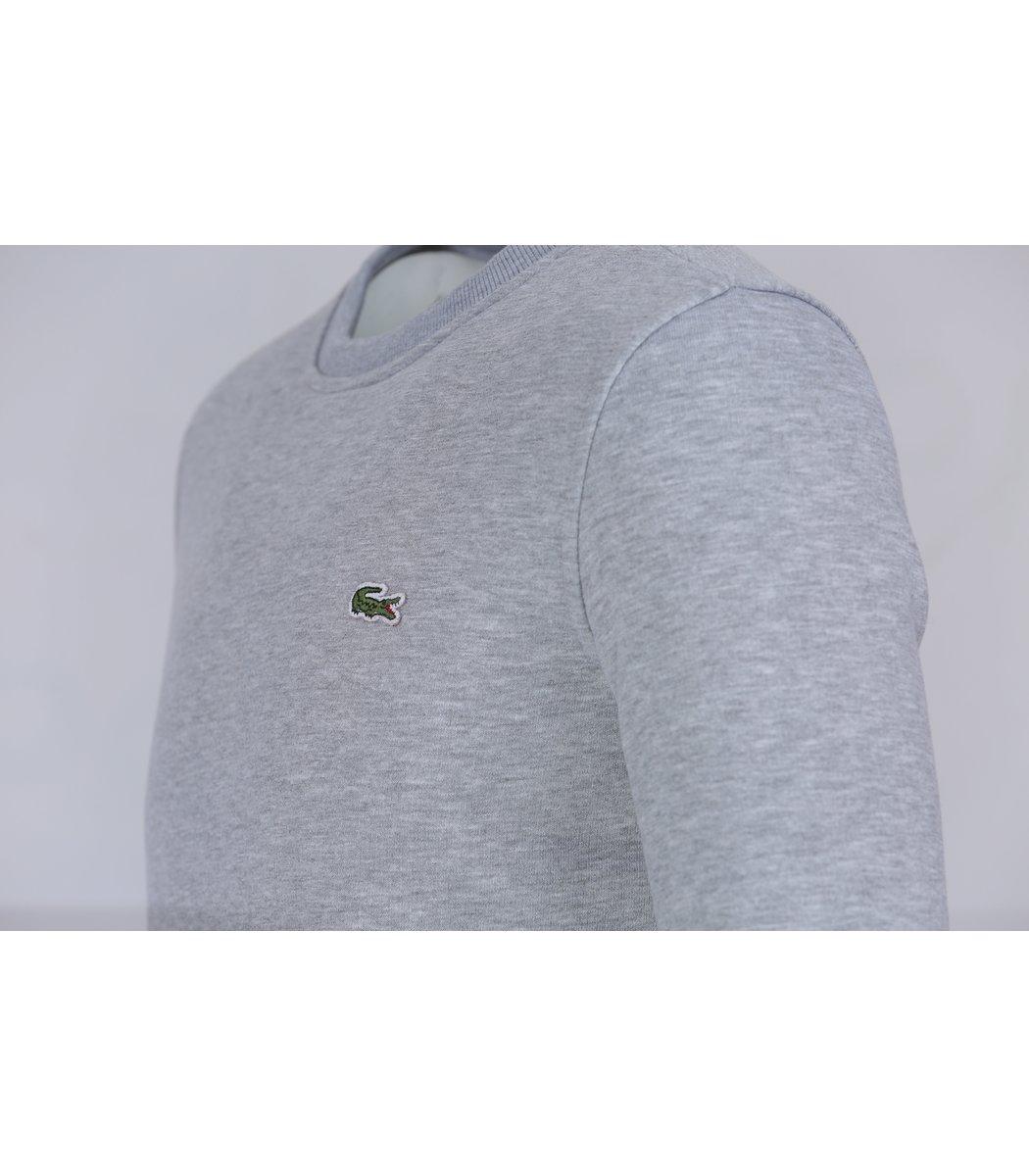 Серый свитшот Lacoste SL1