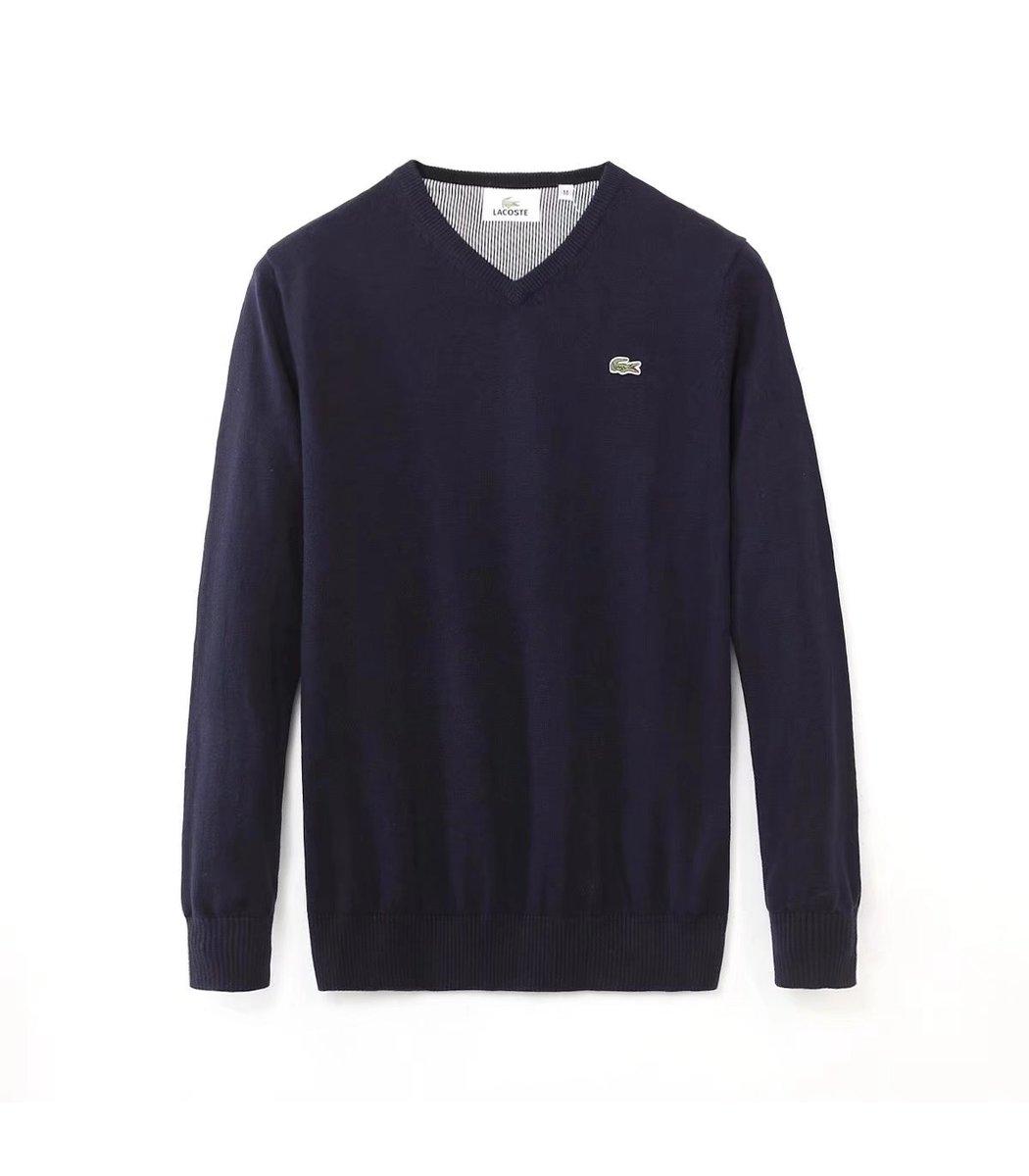 Темно-синий пуловер Lacoste VL3