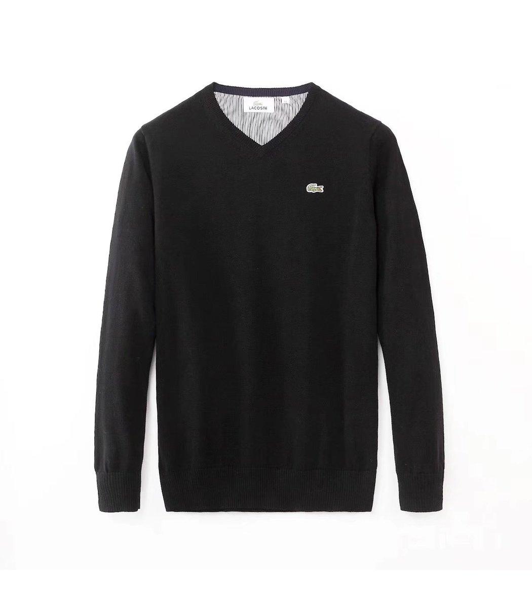 Черный пуловер Lacoste VL3