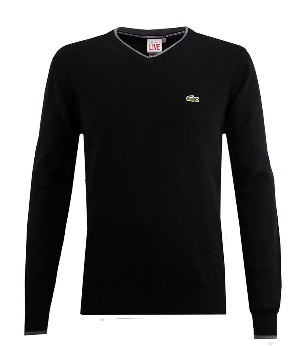 Черный пуловер Lacoste VL4