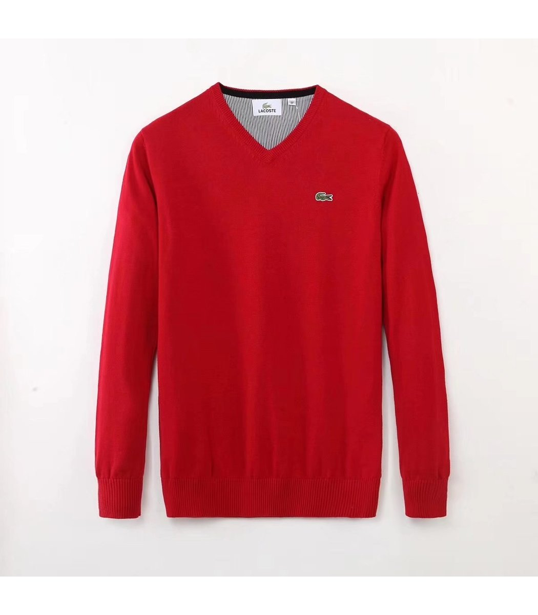 Красный пуловер Lacoste VL3