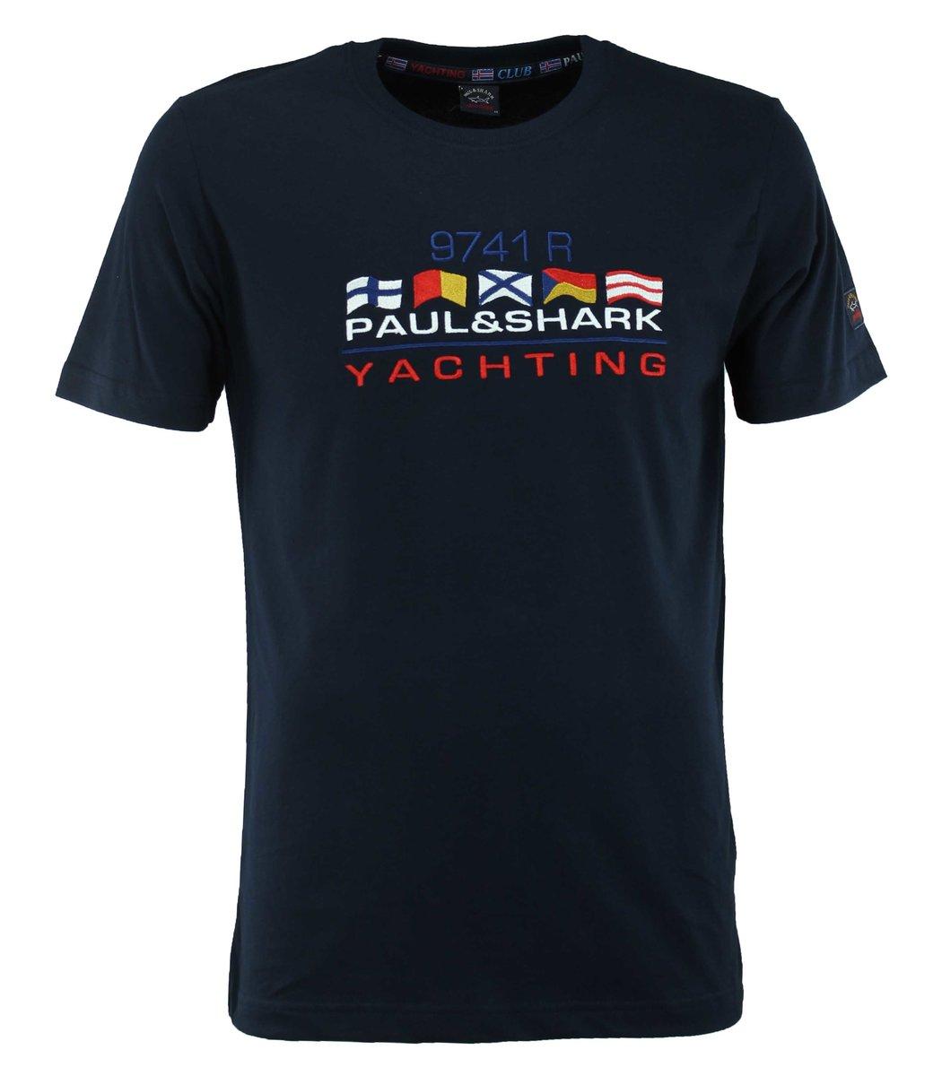 Тёмно-синяя футболка Paul&Shark с вышивкой FP5