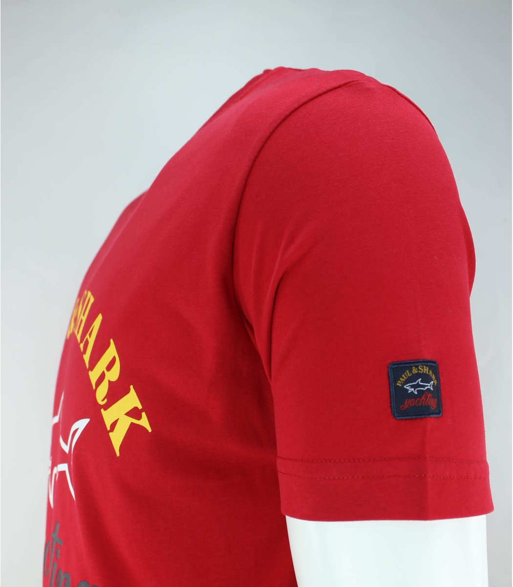 Красная футболка Paul&Shark с принтом FP4