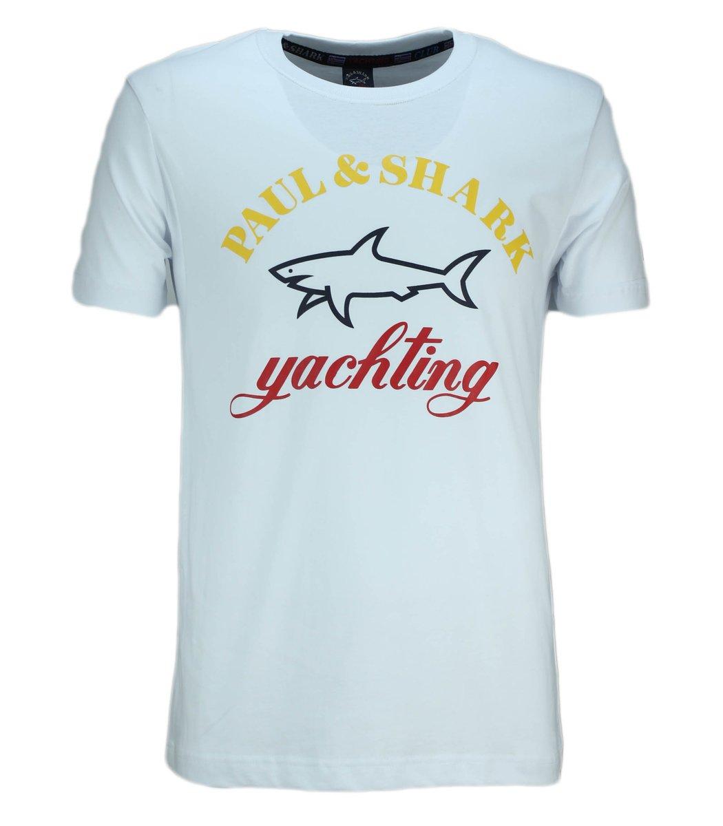 Белая футболка Paul&Shark с принтом FP4
