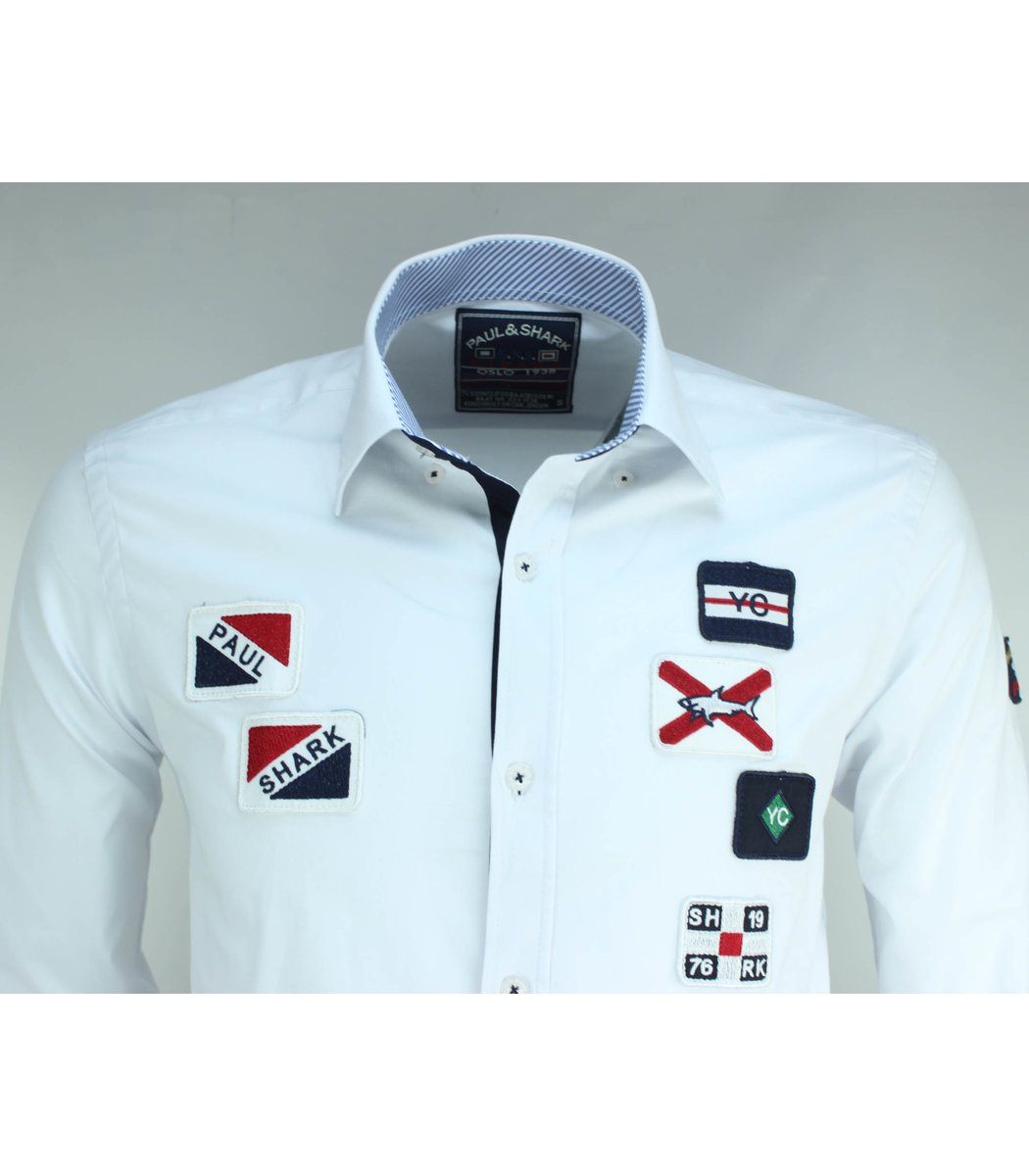 Белая рубашка Paul&Shark RP4 (2859)