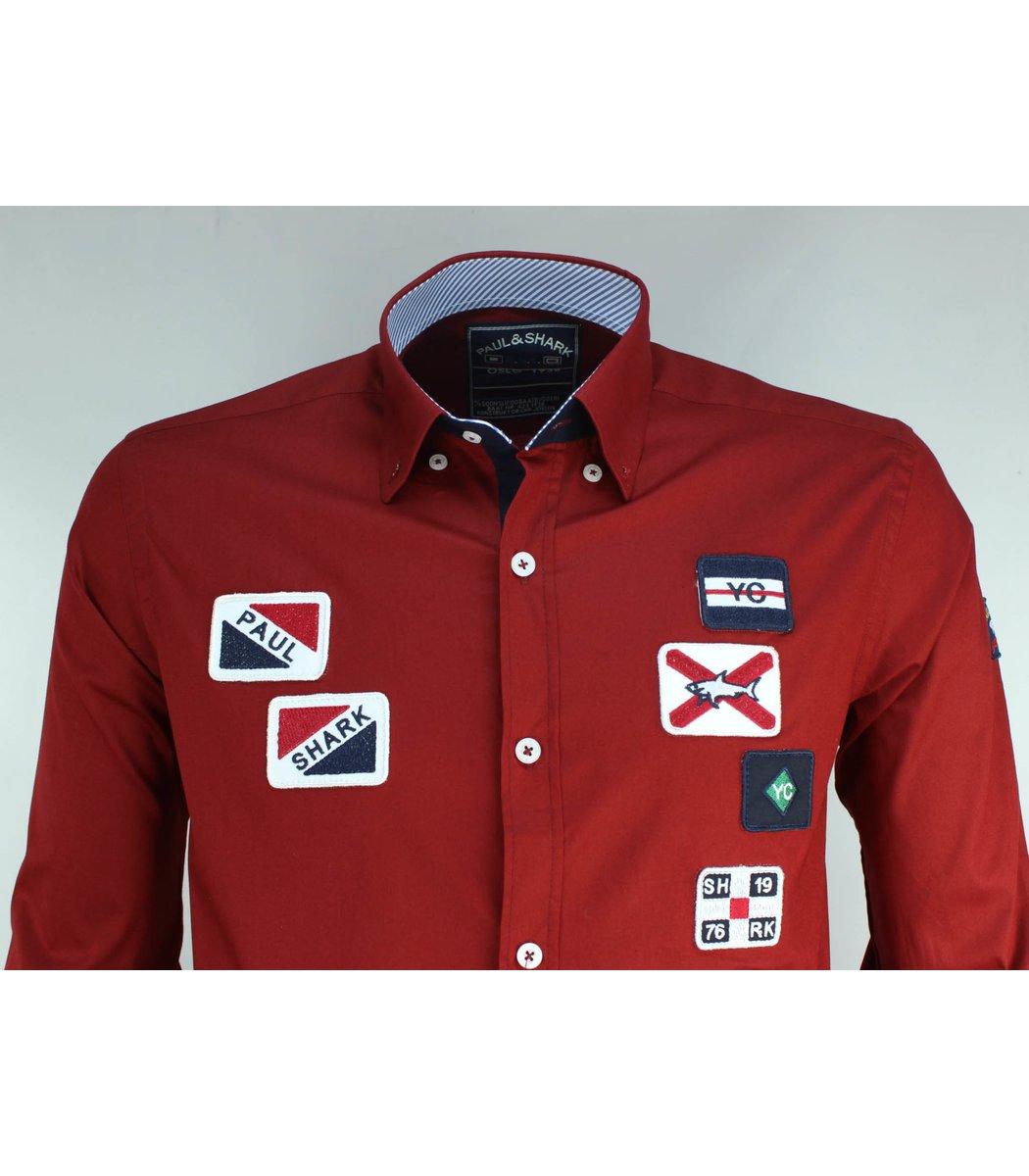 Красная рубашка Paul&Shark RP4 (2859)