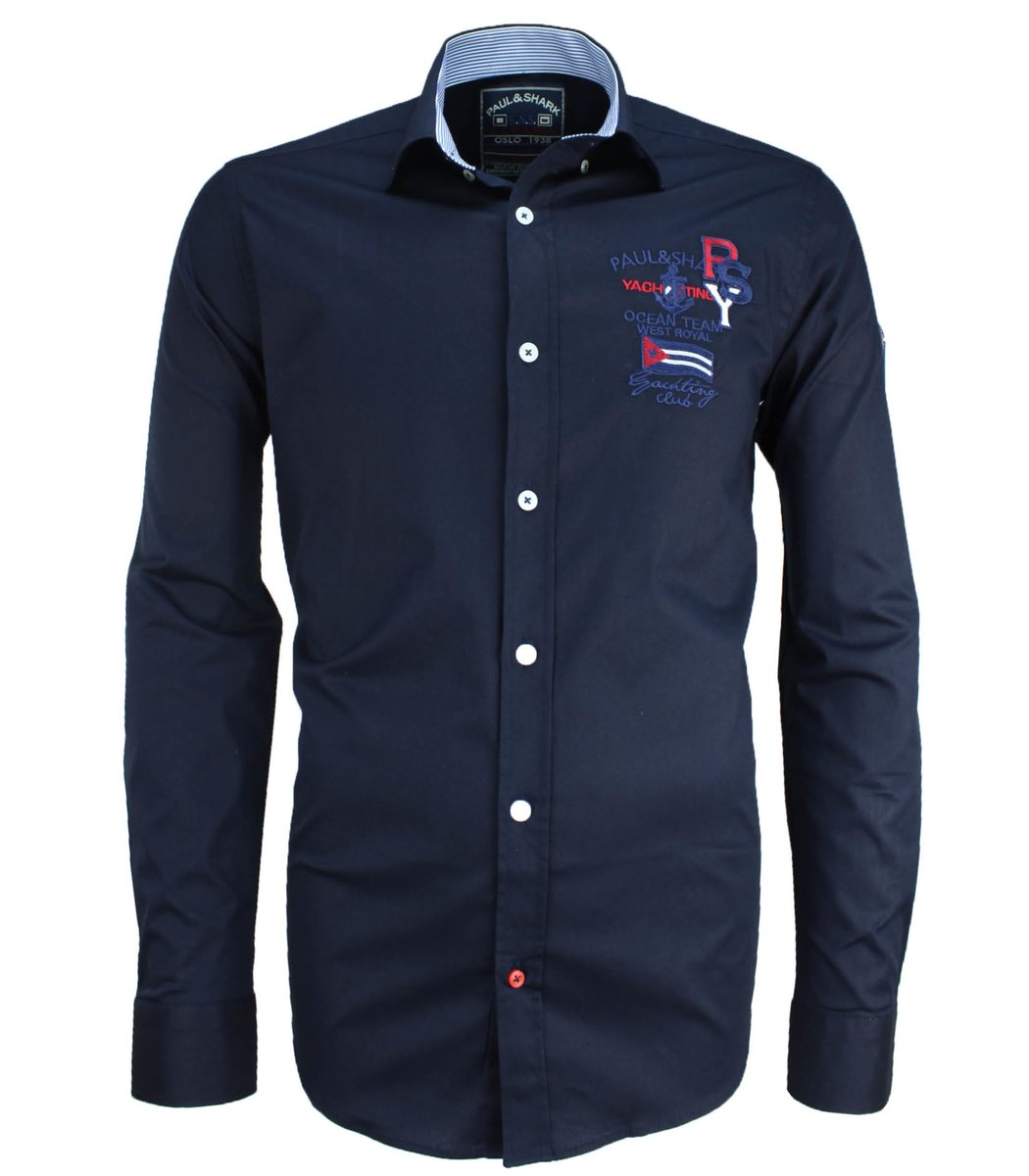 Темно-синяя рубашка Paul&Shark RP3 (2895)