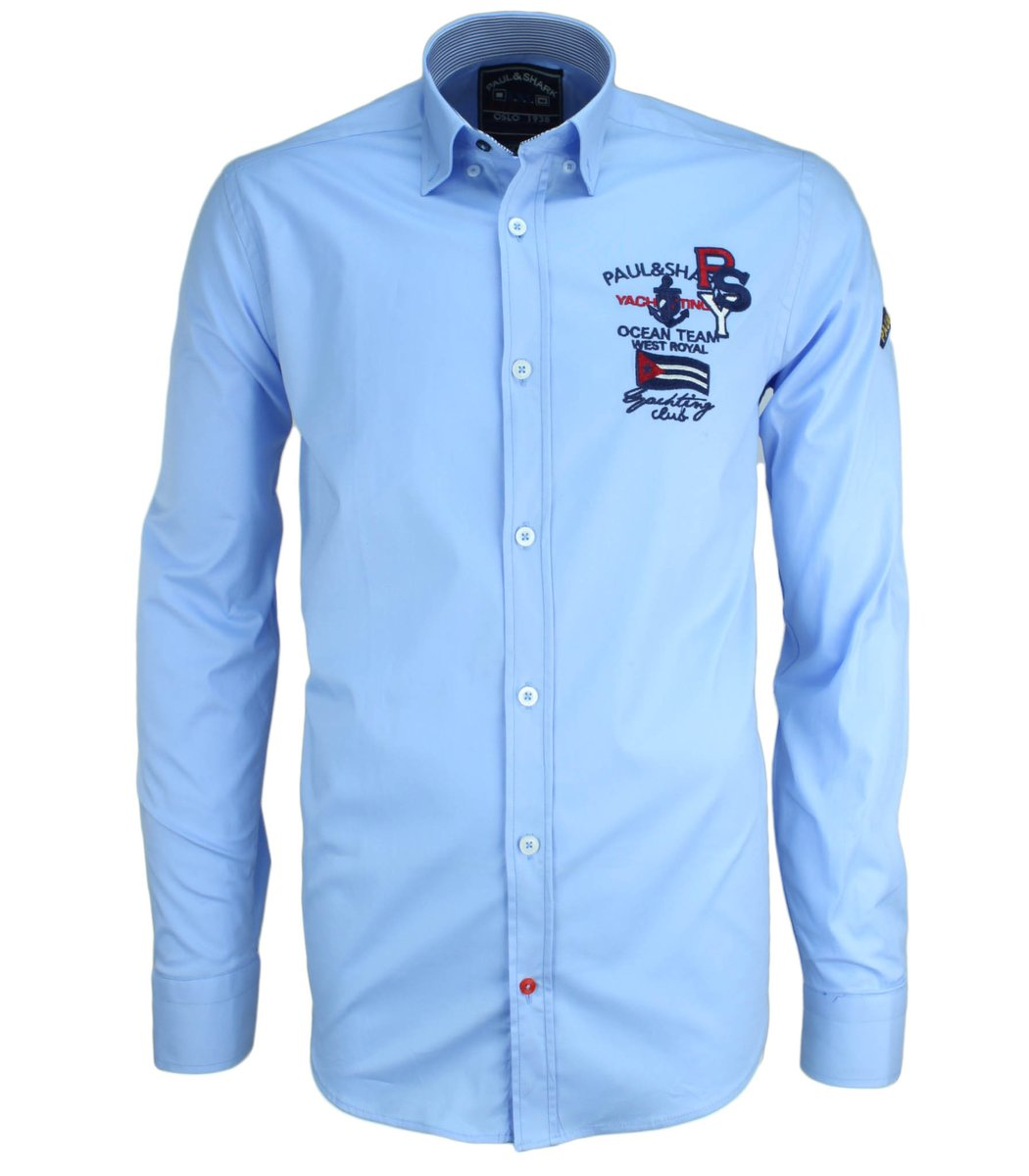 Голубая рубашка Paul&Shark RP3 (2895)