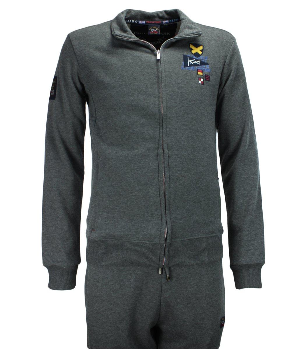 Серый спортивный костюм Paul Shark 11086