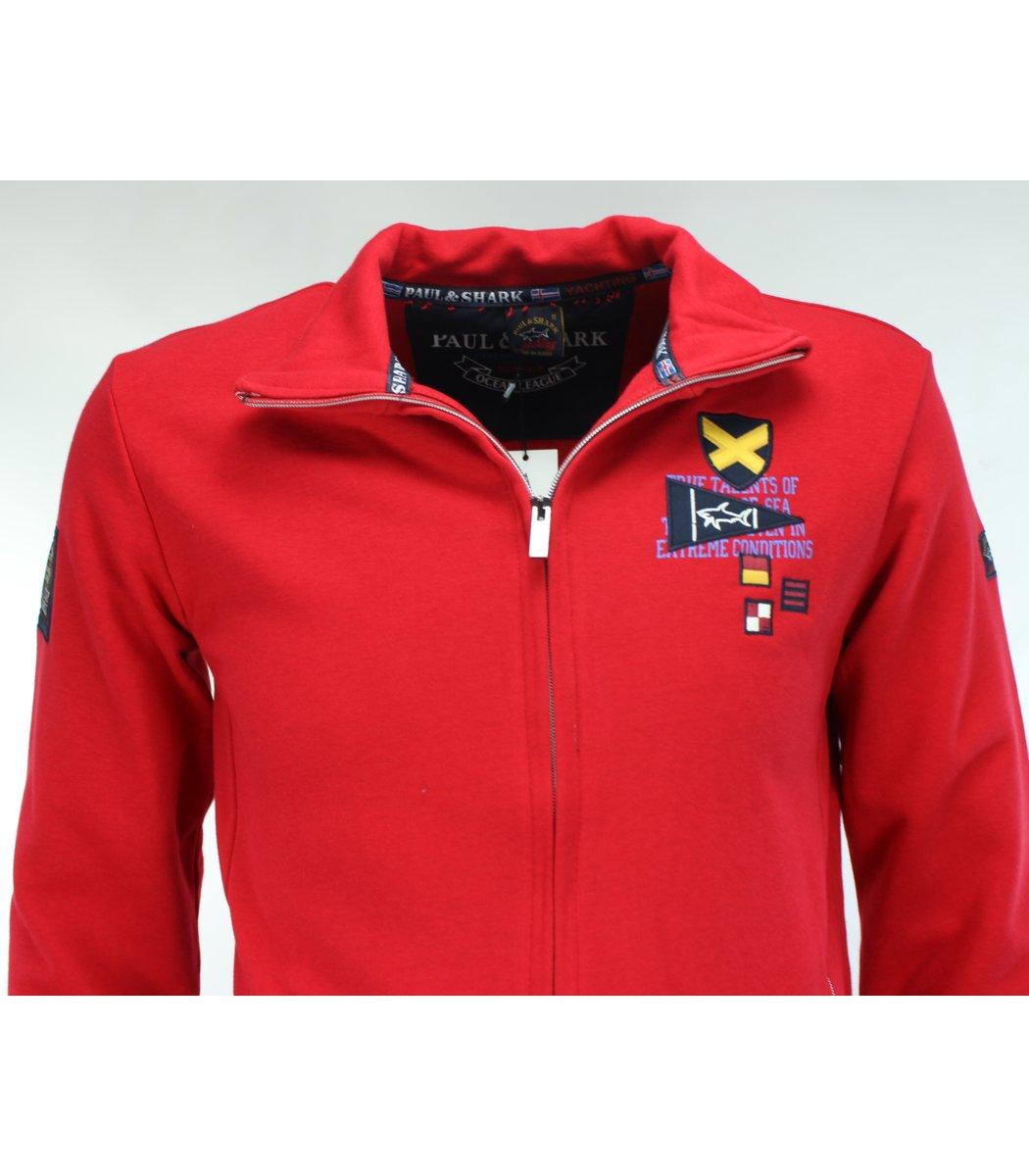Красный спортивный костюм Paul Shark 11086