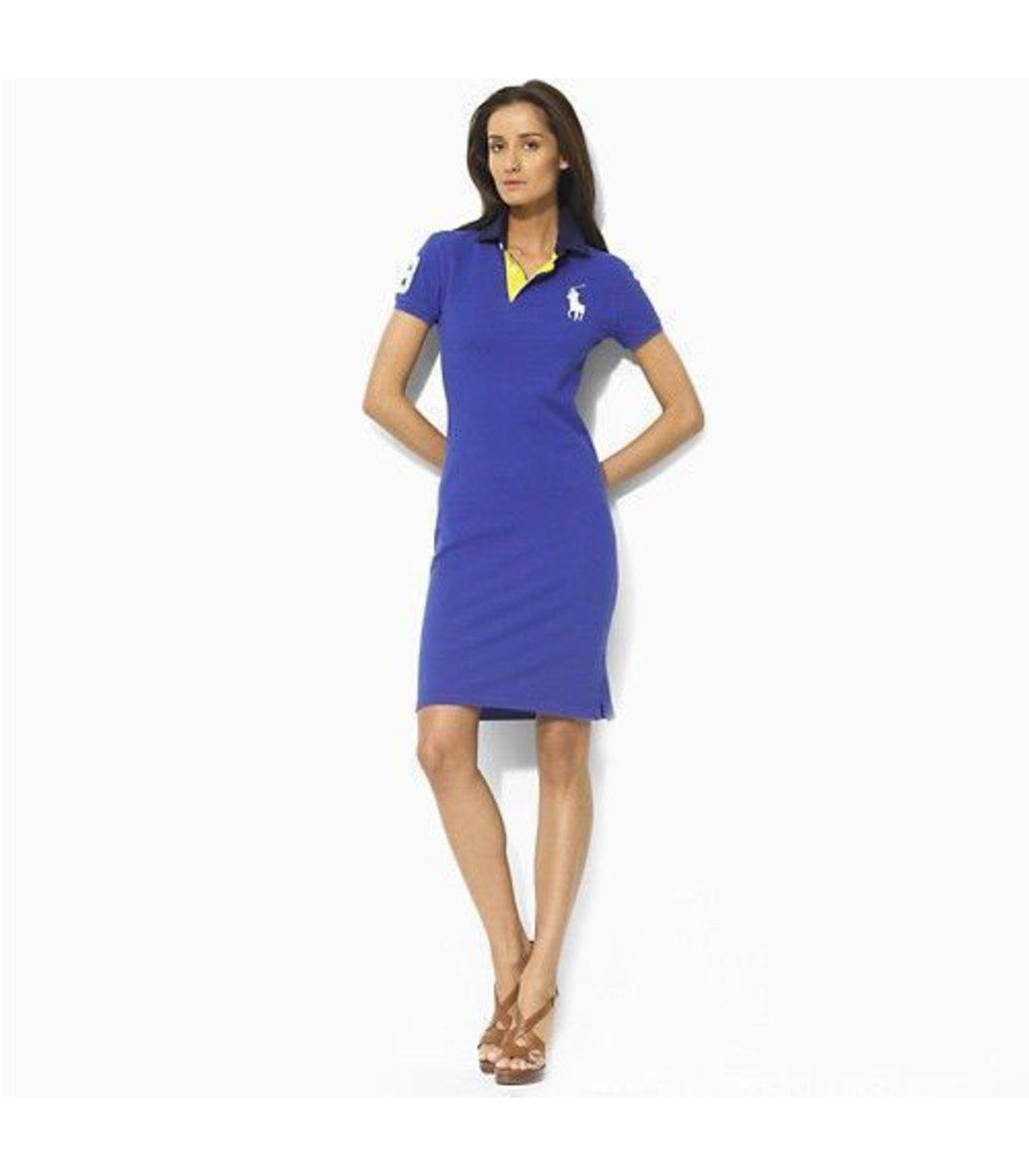 Синее платье поло Ralph Lauren