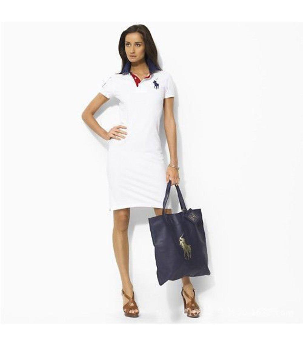 Белое платье поло Ralph Lauren