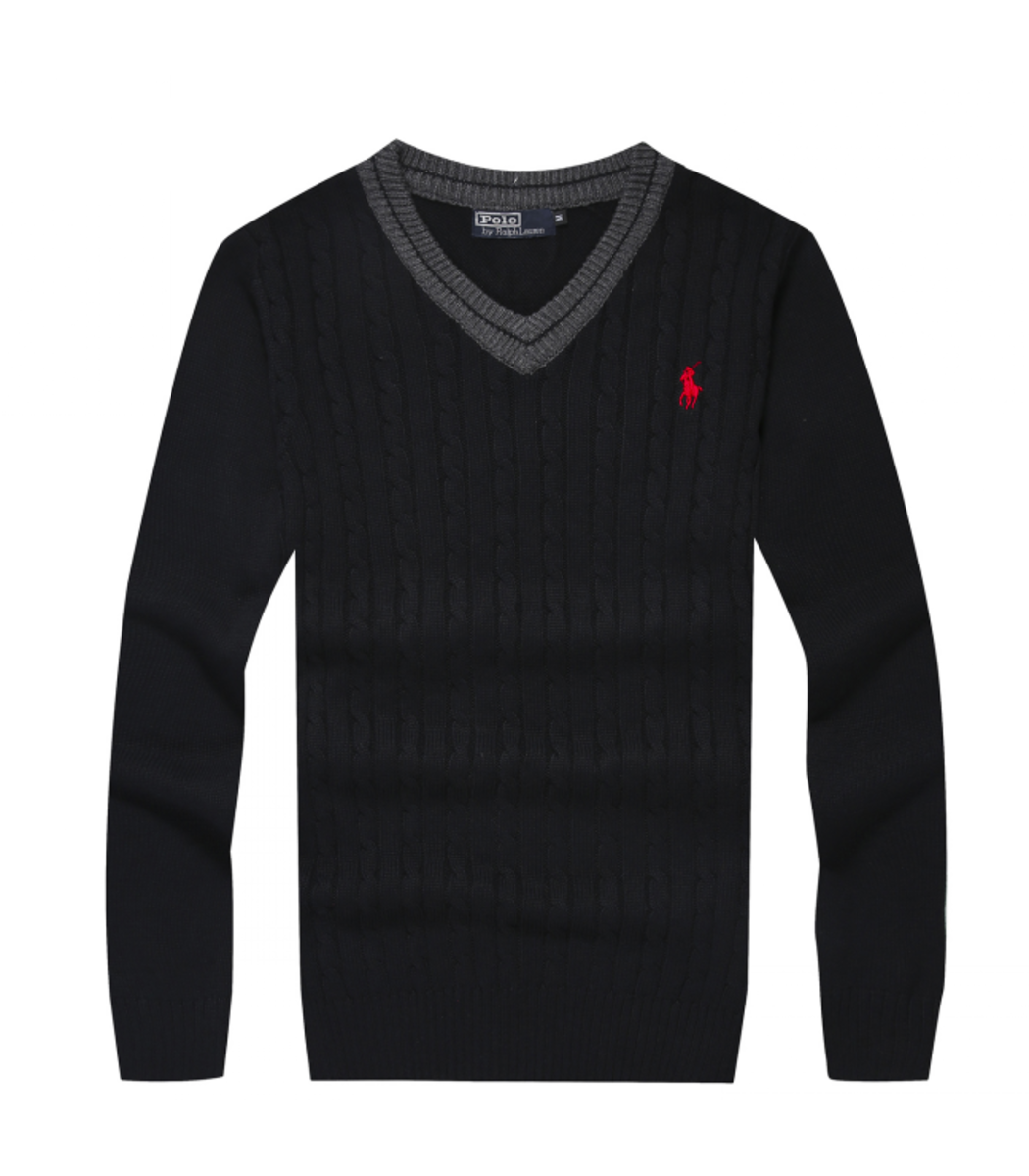 Черный пуловер POLO Ralph Lauren VR1
