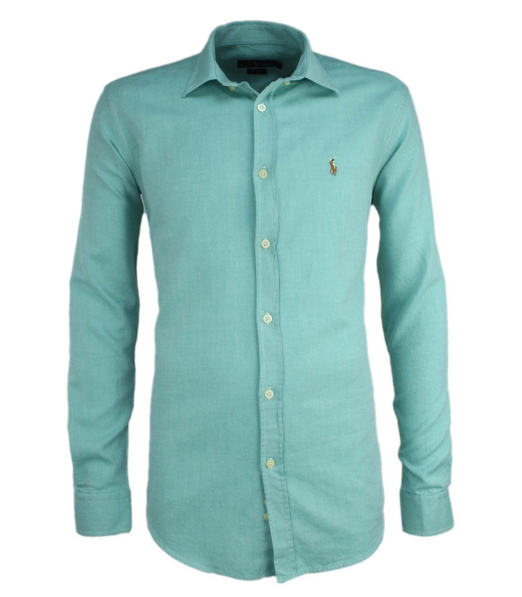 Светло-зелёная рубашка POLO Ralph Lauren RR3-T