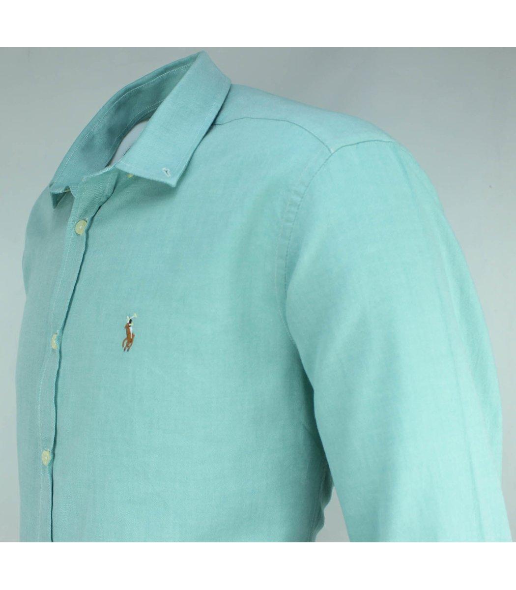 Бирюзовая рубашка POLO Ralph Lauren RR3-T
