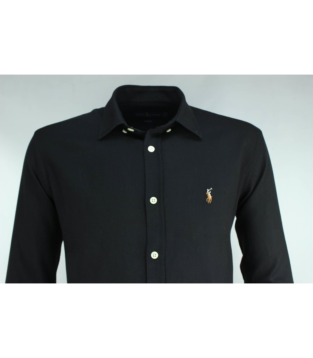 Чёрная рубашка POLO Ralph Lauren RR3-T