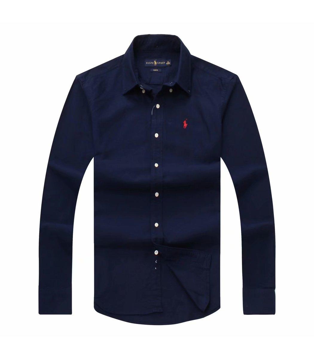 Темно-синяя рубашка POLO Ralph Lauren RR1