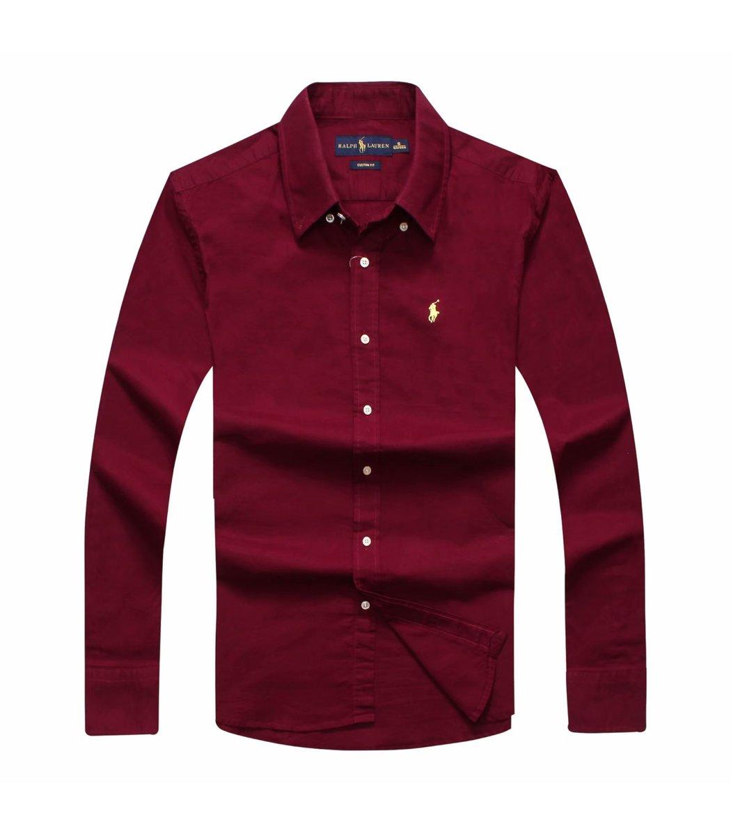 Бордовая рубашка POLO Ralph Lauren RR1