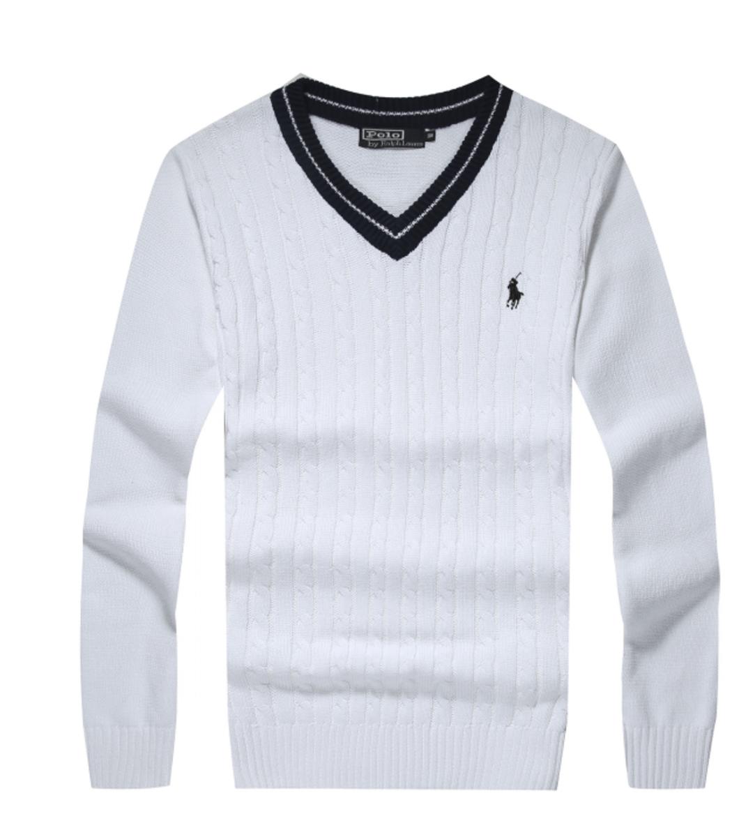 Белый пуловер POLO Ralph Lauren VR1