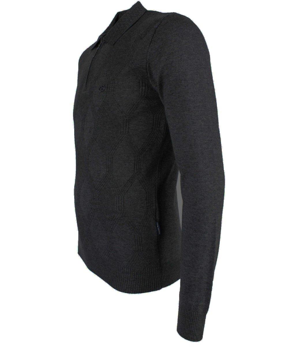 Черное поло с длинным рукавом Stefano Ricci 6175