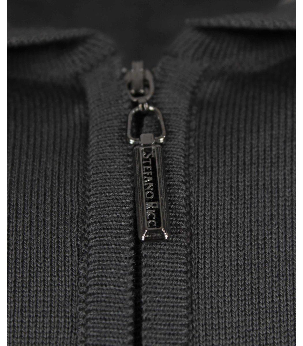 Темно-серое поло с длинным рукавом Stefano Ricci 7330