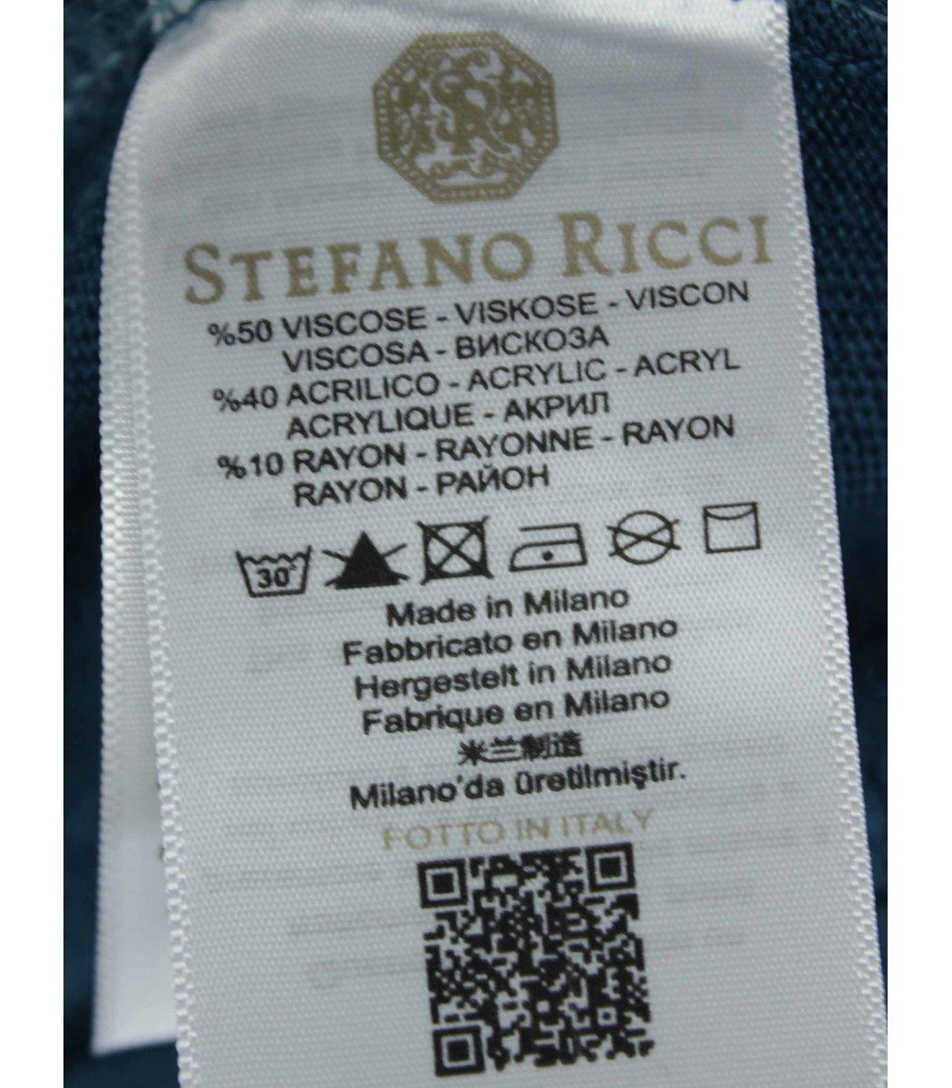 Изумрудное поло с длинным рукавом Stefano Ricci 7330