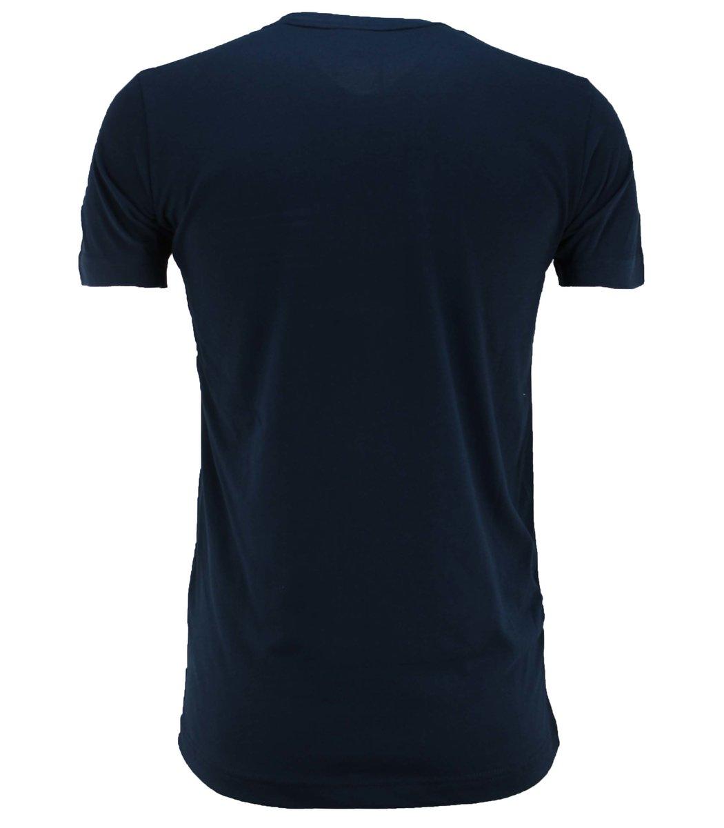 Тёмно-синяя футболка Tommy Hilfiger с вышивкой FT2