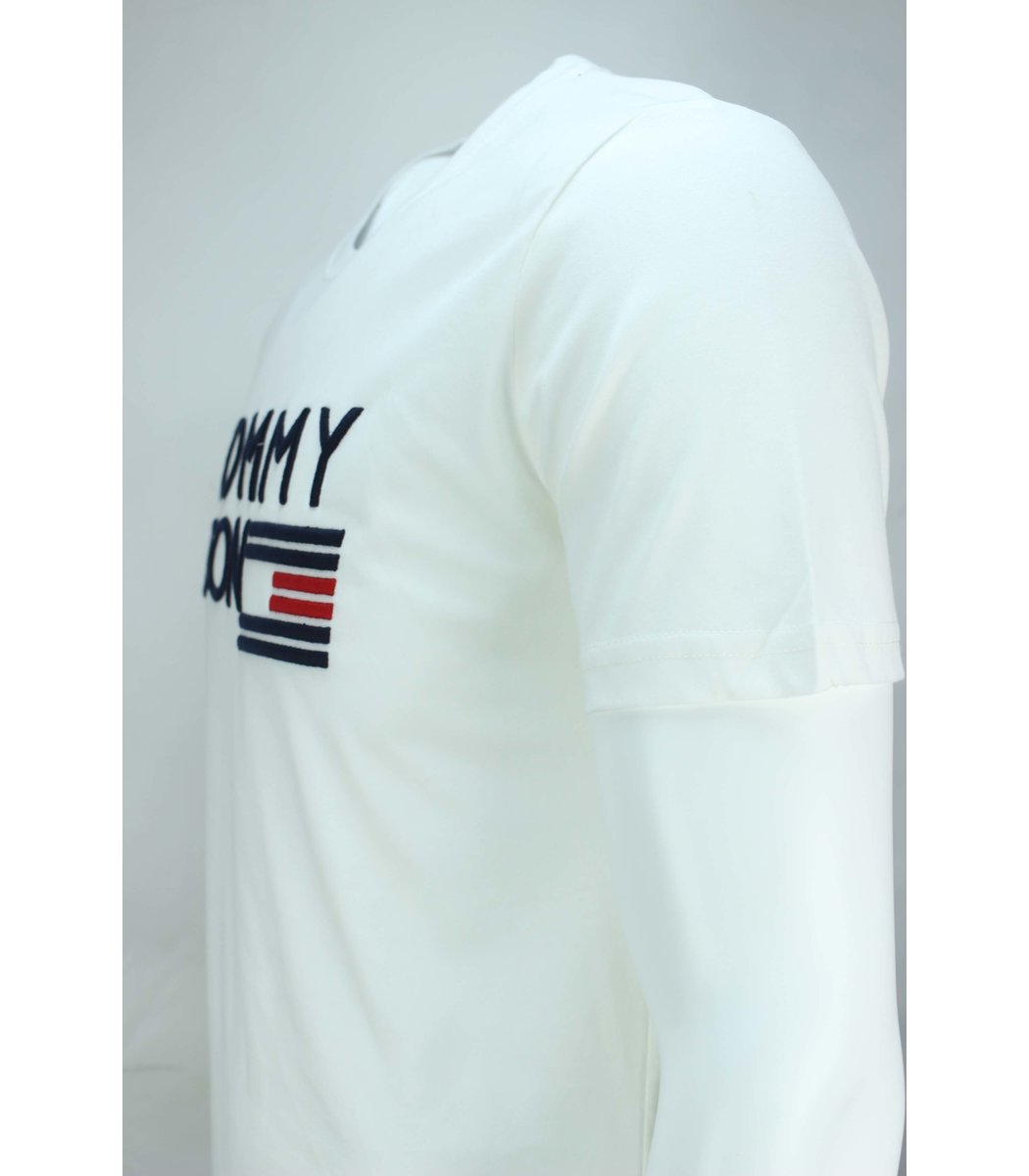 Белая футболка Tommy Hilfiger с вышивкой FT2