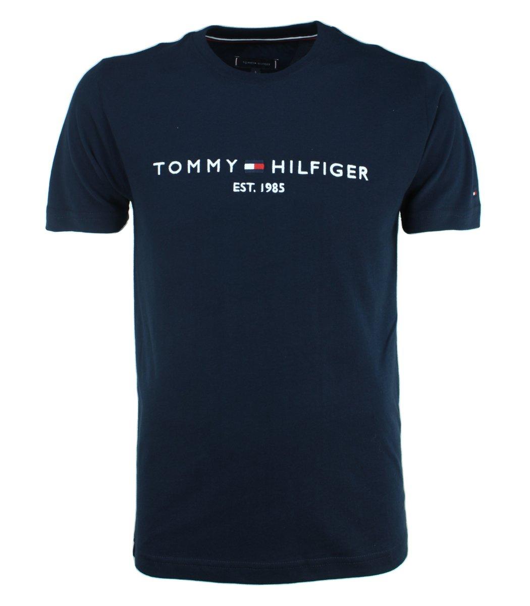 Тёмно-синяя футболка Tommy Hilfiger с вышивкой FT3