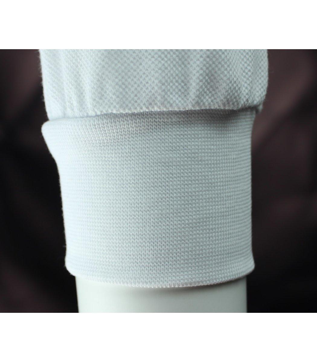 Белое классическое поло с длинным рукавом Tommy Hilfiger PTH1