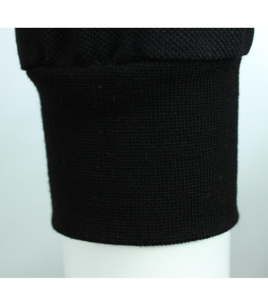 Чёрное классическое поло с длинным рукавом Tommy Hilfiger PTH1
