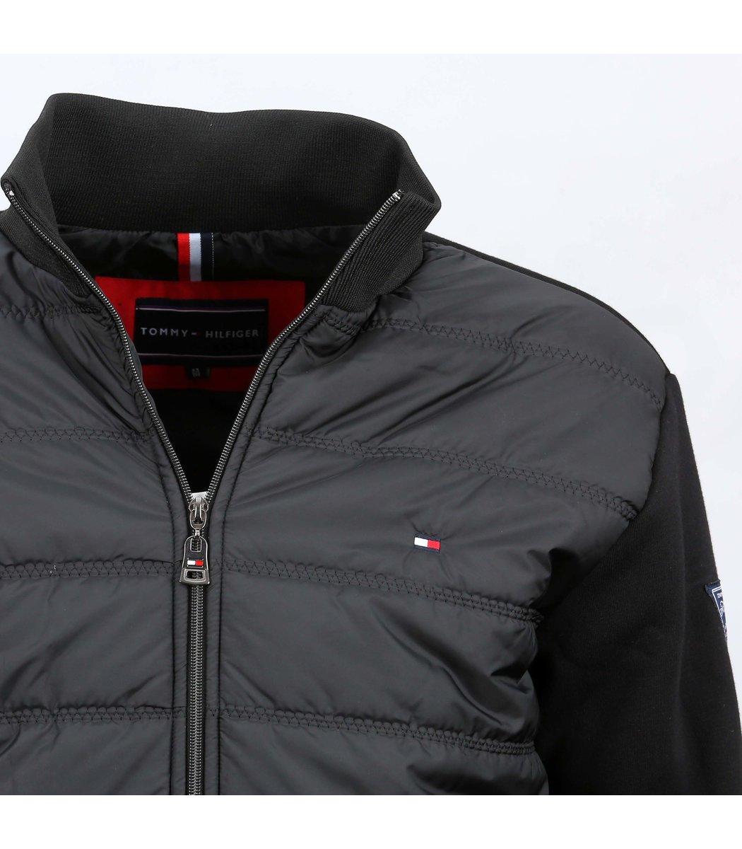 Чёрная комбинированная куртка Tommy Hilfiger KT2