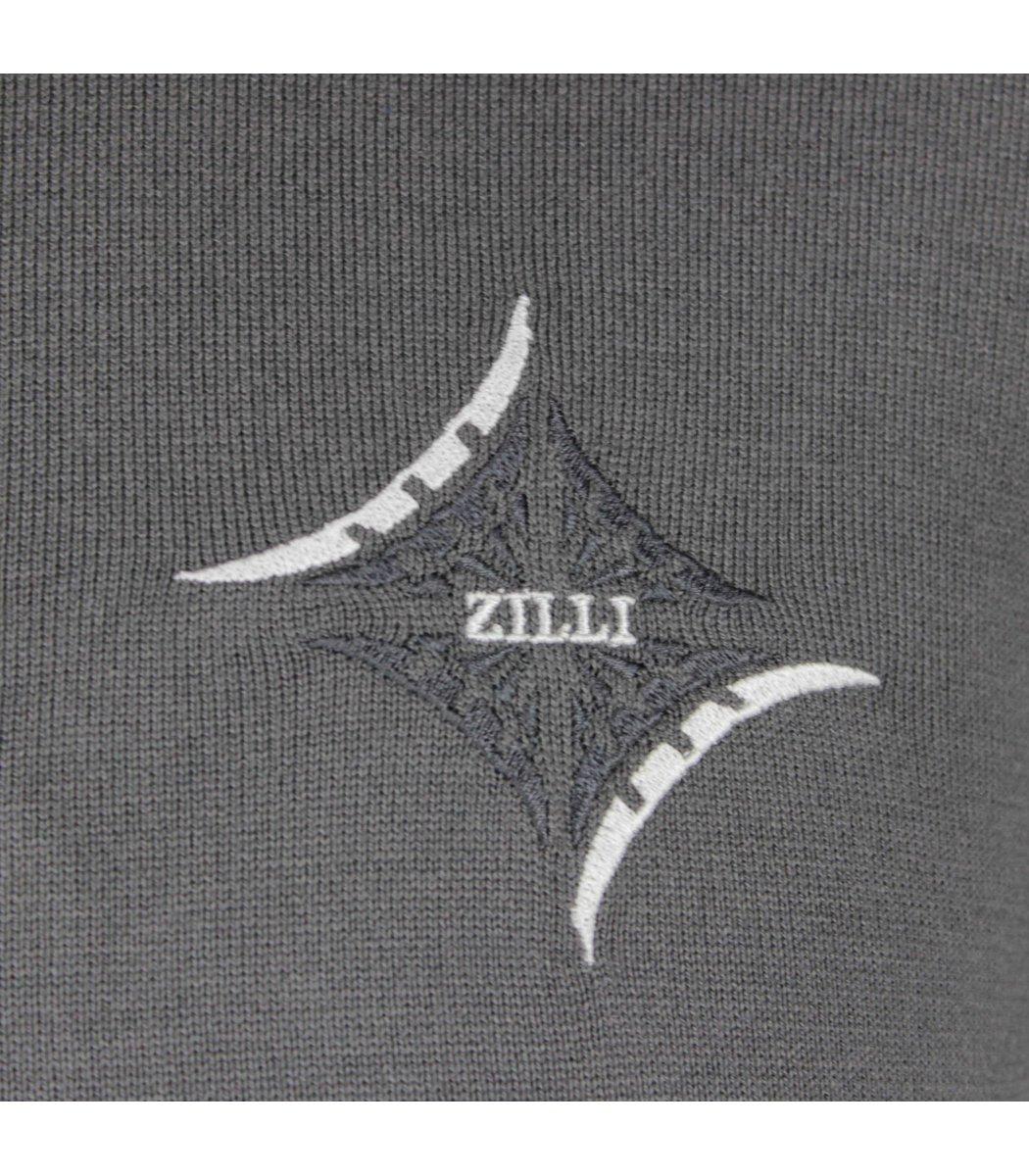 Темно-серое поло с длинным рукавом ZILLI 7185