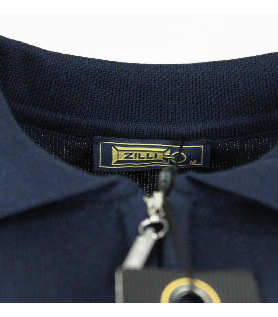 Темно-синее поло с длинным рукавом ZILLI 7285