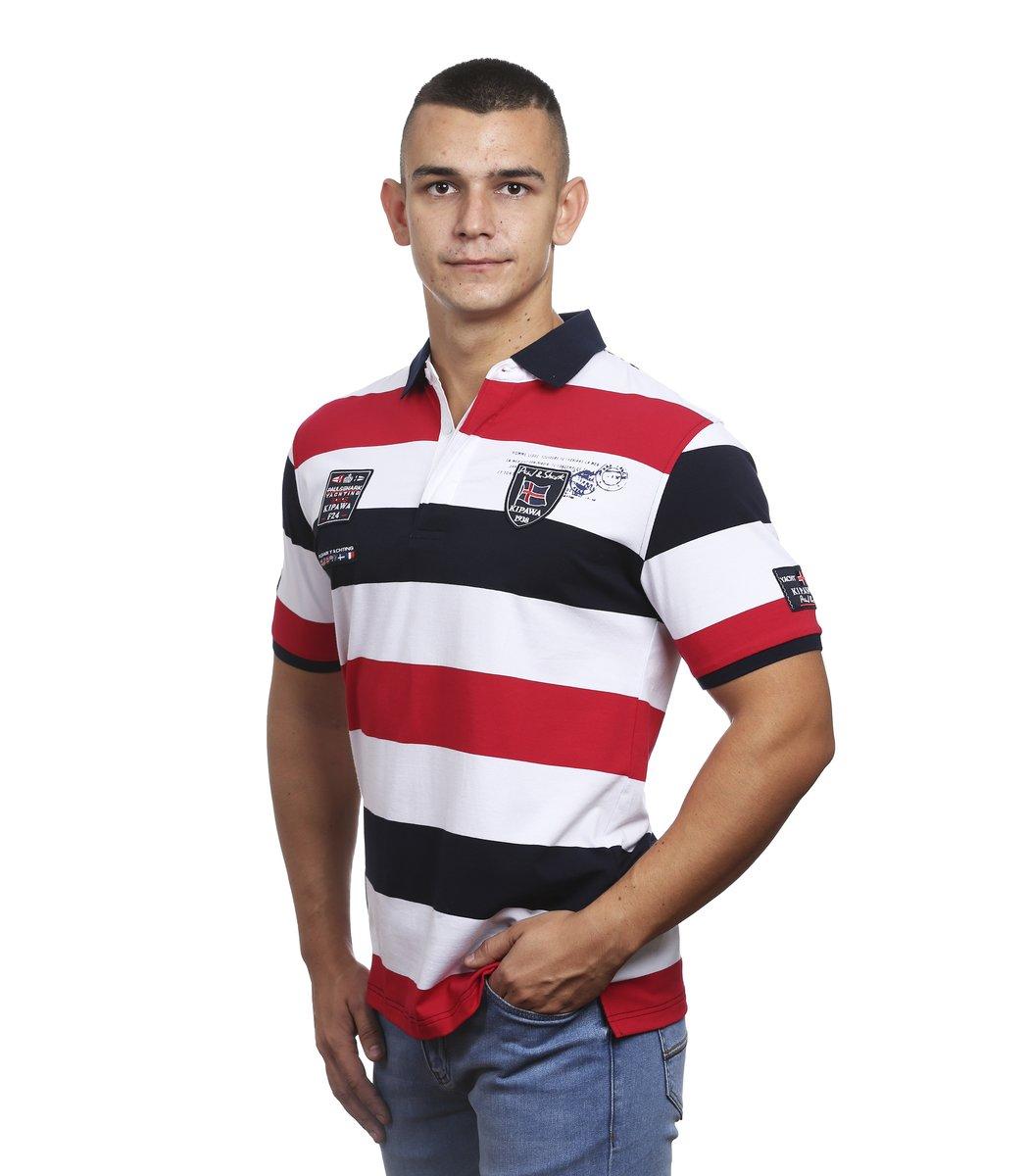 Мужская красная футболка поло Paul&Shark P2