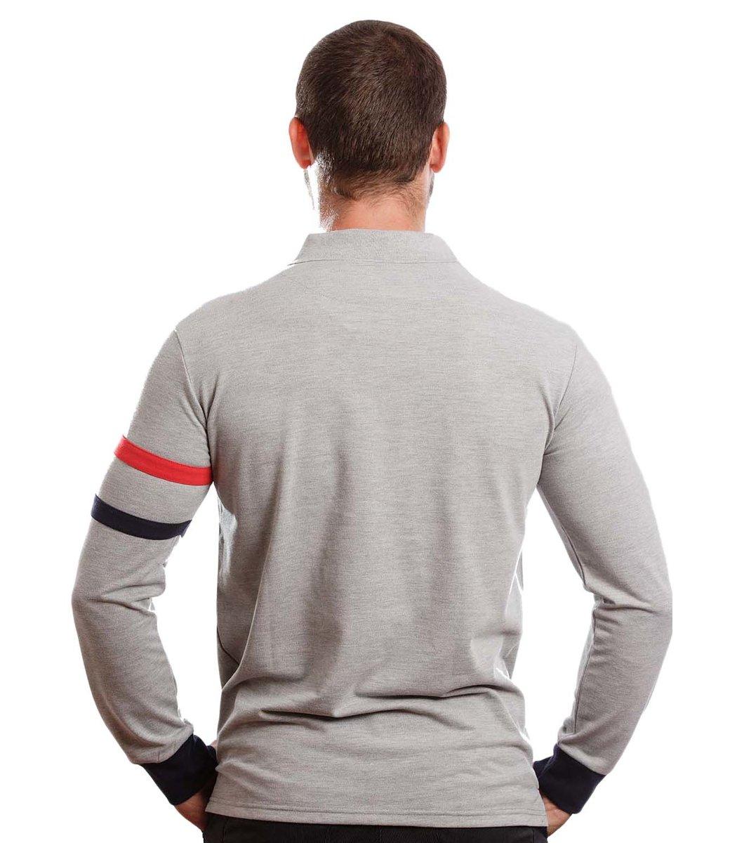Поло с длинным рукавом Hackett PH1 (Серый) - Серый - Вид 5