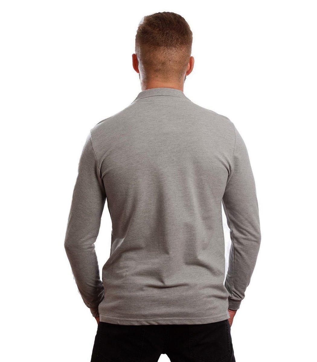 Поло с длинным рукавом Lacoste Classic (Серый) - Серый - Вид 6