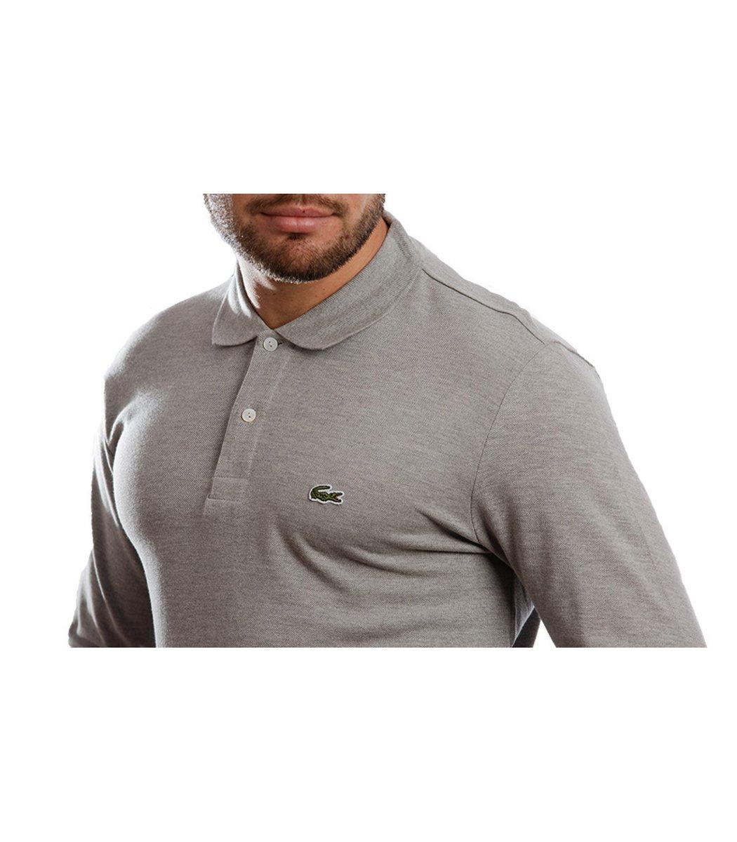Поло с длинным рукавом Lacoste Classic (Серый) - Серый - Вид 4