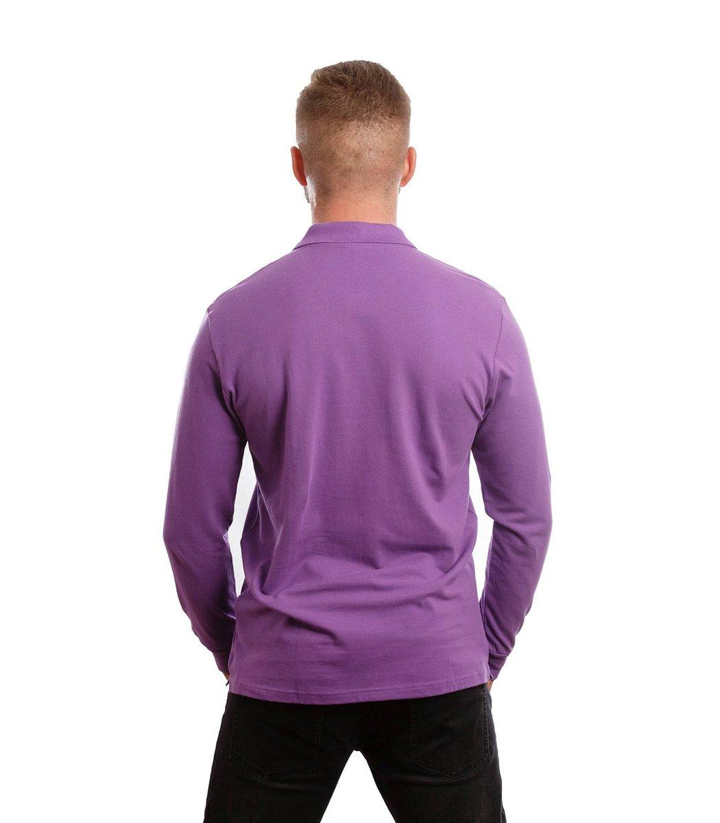 Поло с длинным рукавом Lacoste Classic (Фиолетовый) - Фиолетовый - Вид 6