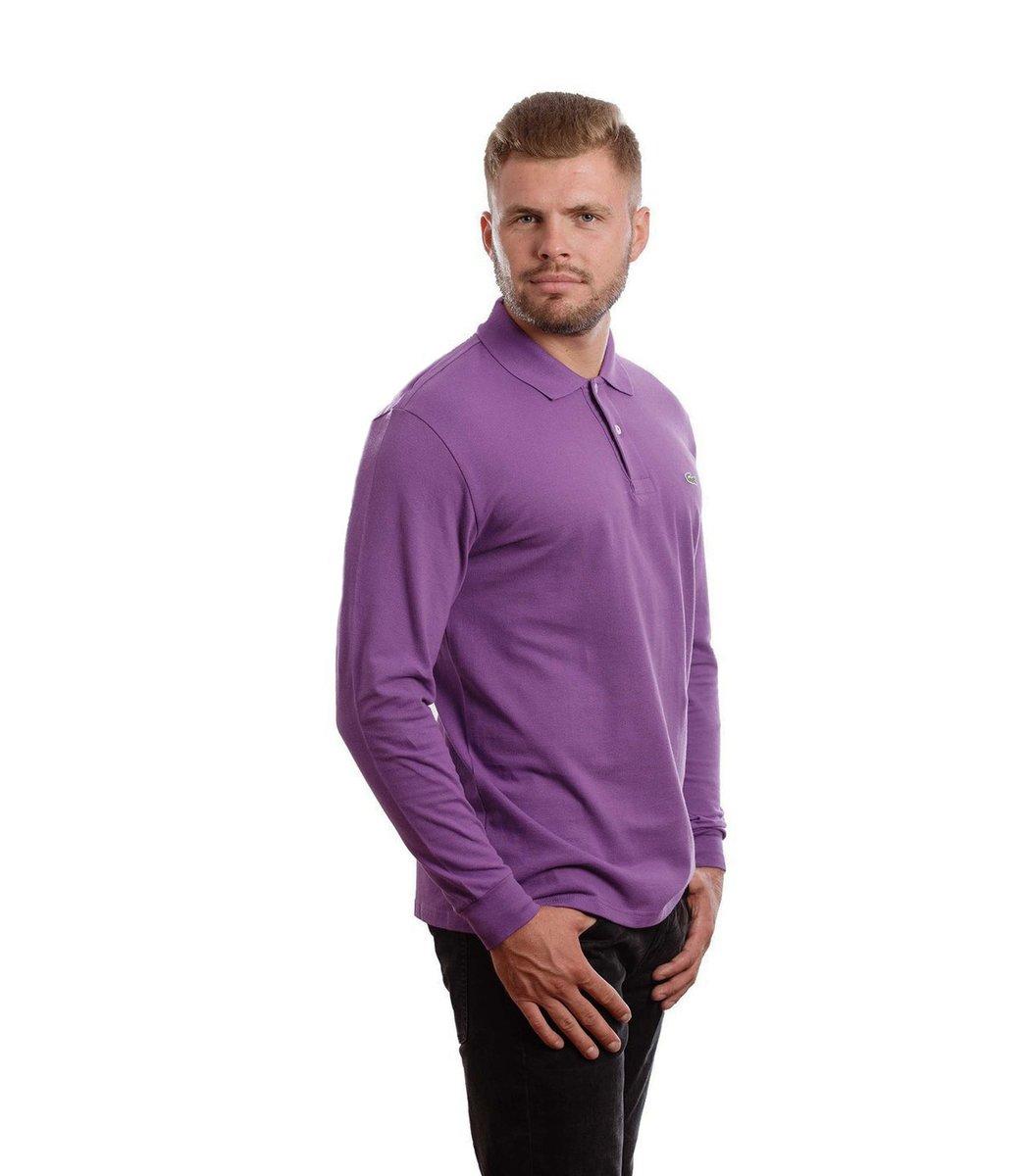 Поло с длинным рукавом Lacoste Classic (Фиолетовый)